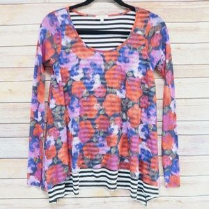 WESTON Anthropologie Size XS Floral Print Top